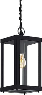 EGLO 94788 - Lámpara de exterior, acero galvanizado, 60W, negro