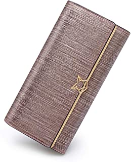 Women Leather Wallet Trifold Clutch Wallet Purse Ladies Card Holder