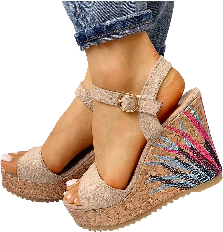 RUOYUN Wedges Shoes for Women Shoe Straw Sandals Popular brand Slip-On Atlanta Mall