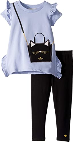 Cat Handbag Leggings Set (Toddler/Little Kids)