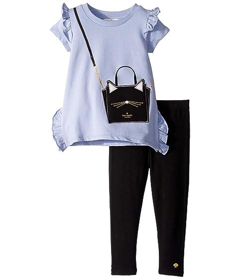 Kate Spade New York Kids Cat Handbag Leggings Set (Toddler/Little Kids)