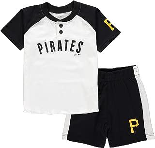 Outerstuff MLB Infants Toddler Good Hit Short Sleeve Henley & Shorts Set