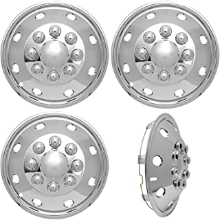 """Ford E350 E450 RV Motorhome 16/"""" 92-07 Stainless Dually Wheel Covers BOLT ON"""