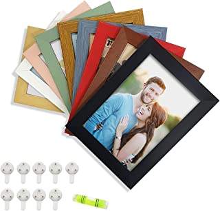 Vibgyor Collage Photo Frame set of 9 Picture frame Multicoloured for home decoration Photo Size 5x7 inches by Art Street
