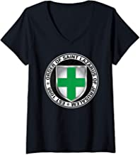 Womens Order of Saint Lazarus of Jerusalem Shield V-Neck T-Shirt
