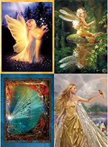 Tree-Free Greetings Fairy Magic All Occasion Card Assortment, 5 x 7 Inches, 8 Cards and Envelopes per Set (GA31442)