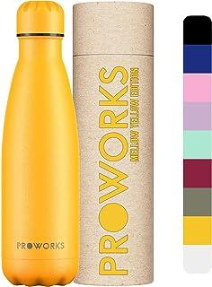 Proworks RVS Sport Waterfles | Dubbel Geïsoleerde Thermosfles voor 12 Uur Warme en 24 Uur Koude Drankjes - ideaal voor thu...