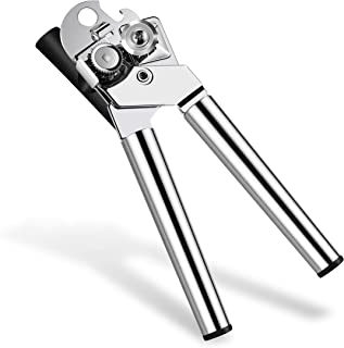 Adorn Life Can Opener Manual Built-in Can Opener Heavy Duty Stainless Can Tin Opener Black