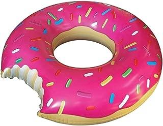 ポの屋 大きい 浮き輪 ドーナツフロート 可愛い 夏 水泳 海水浴 水遊び 夏休み 海外 旅行 アウトドア 直径 60cm 子供用 ピンク(ストロベリー)