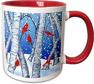 cardinal bird coffee mugs