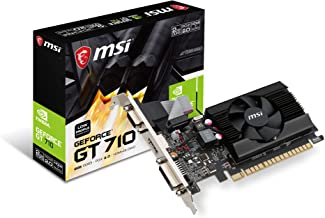 MSI Gaming GeForce GT 710 2GB GDRR3 64-bit HDCP Support DirectX 12 OpenGL 4.5 Single Fan Low Profile Graphics Card (GT 710...