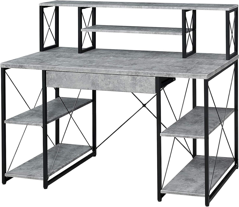 Acme Time sale Furniture Deluxe Amiel Gray Desk