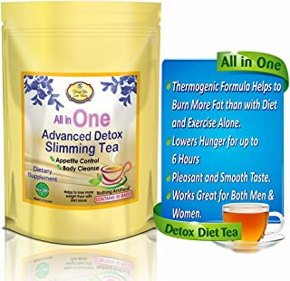 All in One Detox Tea for Weight Loss - Appetite Suppressant, Energy Booster and Colon Cleanser