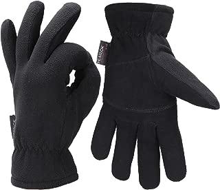 Men Winter -20°F Cold Proof Thermal Gloves, Deerskin Leather Palm & Fleece Lined