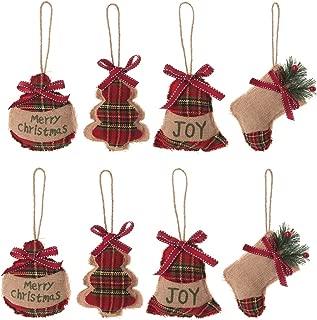 Christmas Tree Ornaments Stocking Decorations - 8pcs Christmas Stocking Ball Tree Bell Holiday Party Decor