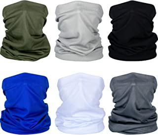 Summer Face Cover UV Protection Neck Gaiter Scarf Sunscreen Breathable Bandana (Black, Dark Grey, Light Grey, Army Green, Royal Blue, White, 6)