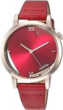 [フィールドワーク] 腕時計 ファッションウォッチ ヘルツ アナログ 革ベルト QKS165-6 レディース レッド