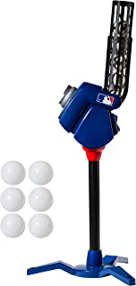 Franklin Sports Baseball Pitching Machine - Adjustable Baseball Hitting & Fielding Practice Machine For Kids - with 6 Baseballs - Great For Practice