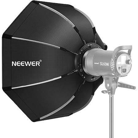 Neewer 65cm/26inch八角形ソフトボックス 折りたたみ式 ボーエンズマウントスピードリング、キャリングケース付き スピードライト、スタジオフラッシュ、モノライト、ポートレートと製品写真撮影に対応