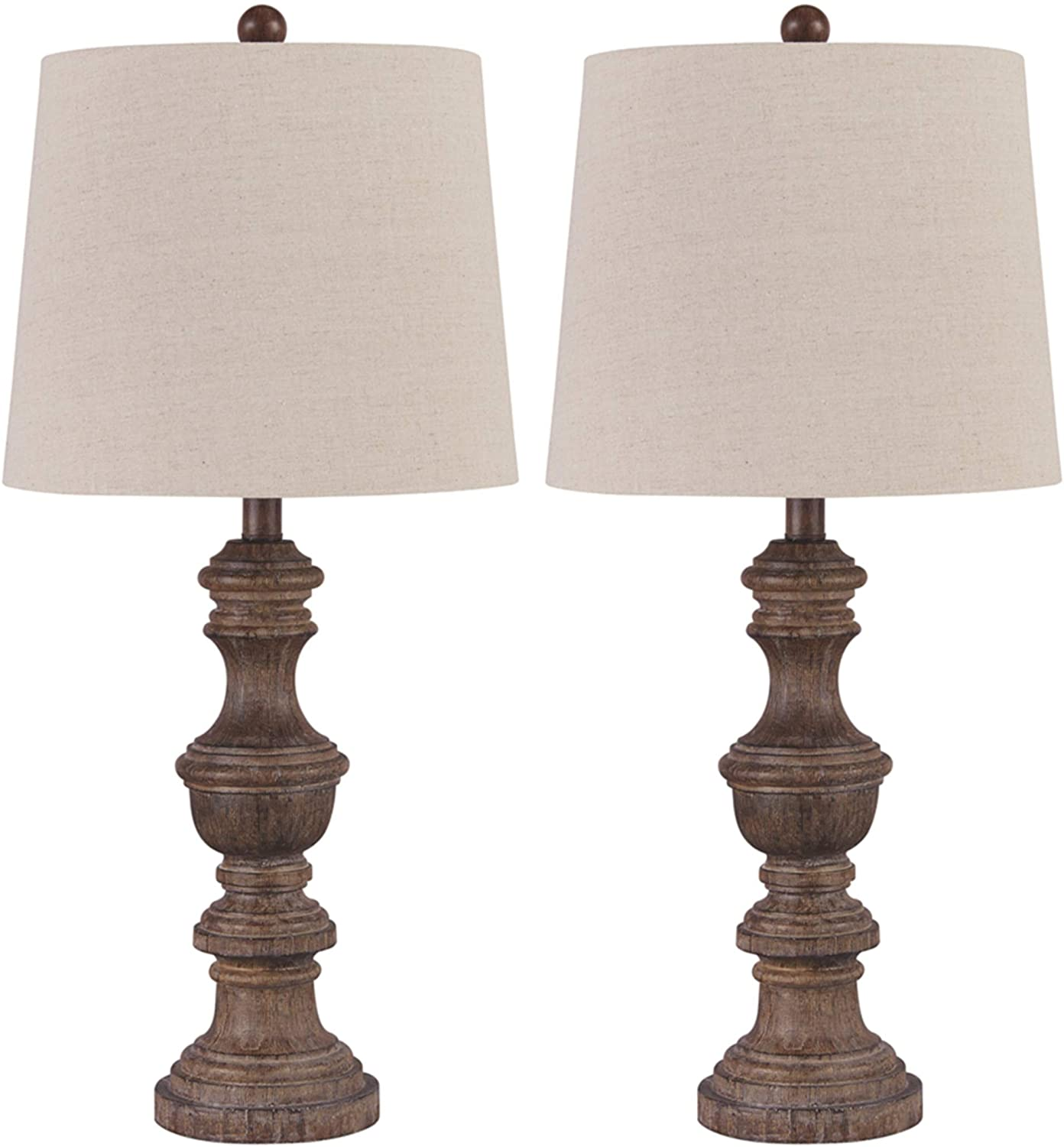 Signature Design by Ashley Magaly Cottage Set 2 Lamp of Table L Large-scale sale National uniform free shipping