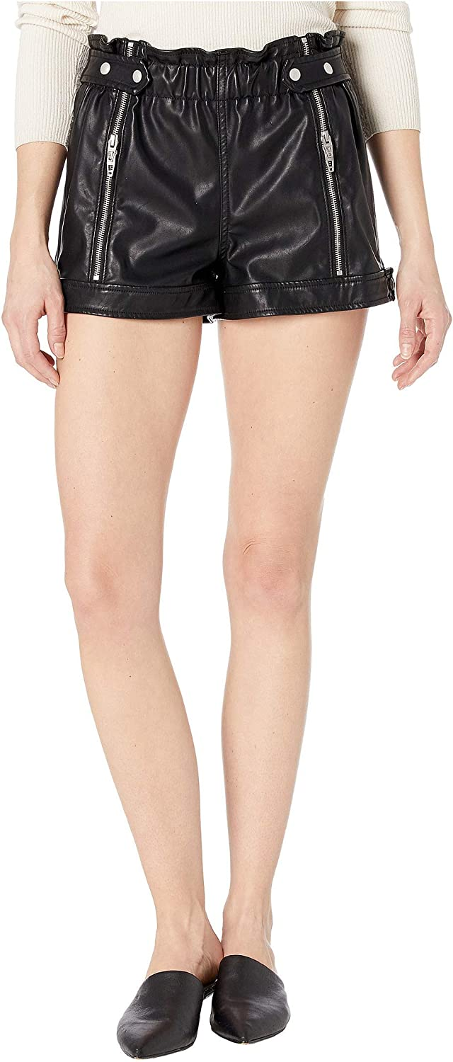 BLANKNYC Womens Luxury Clothing Vegan Zipp Max 53% OFF Finally resale start with Shorts Leather