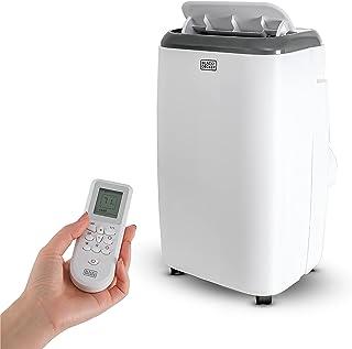 BLACK+DECKER BPP08HWTB - Aire acondicionado portátil con control remoto y calor, 8.000 BTU SACC/CEC (12.000 BTU ASHRAE), se enfría hasta 350 pies cuadrados, color blanco