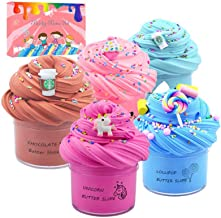 Summerdays 5 Pack Birthday Cake Theme Butter Slime kit, Including Cake Slime, Coffee Slime,Unicorn Slime, Blue Coffee Slim...