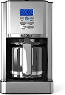 MEOMY Coffee Maker, 12 Cups Programmable Stainless Steel Coffee Machines, Drip Coffee Maker with 60 oz. Water Reservoir, Multiple Brew Strength, Self-Cleaning Function, Keep Warm 4 Hours