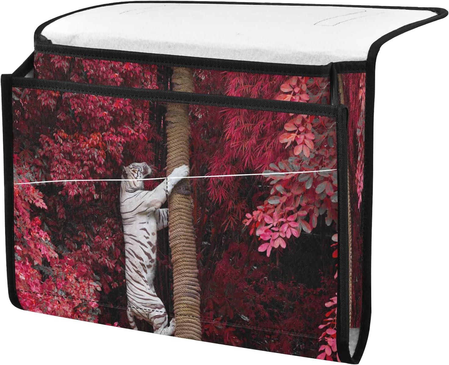 senya Wild OFFicial shop White Tiger Climbing Tree Bedside Dealing full price reduction Organizer Storage B
