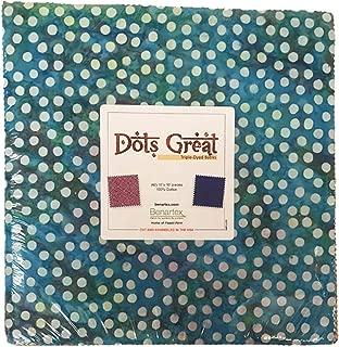 Bali Batik Dots Great 10X10 Pack 42 10-inch Squares Layer Cake Benartex