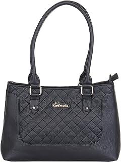 Esbeda Women's PU Synthetic Handbag (Black, SH210716_1431)