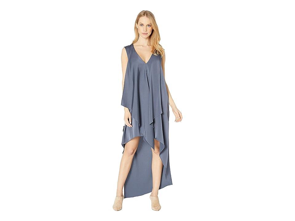 BCBGMAXAZRIA Day Long Woven Dress (Bluestone) Women