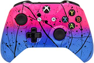 Hand Airbrushed Fade Xbox One Custom Controller Compatible with Xbox One (Hot Pink & Blue)