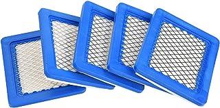 Liineparalle Filtro de Aire del cortacésped de 5 PCS para Briggs & Stratton 491588 491588S 399959 John Deere PT15853