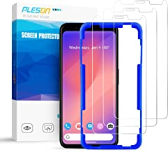 Pleson Google Pixel 4 XL Screen Protector [Easy Install] [Lifetime Replacement][Case Friendly][3 Pack] Full Coverage/Bubble Free Tempered Glass Screen Protector Film for Google Pixel 4XL - 2019