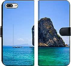 MSD Premium Phone Case Designed for iPhone 7 Plus and iPhone 8 Plus Flip Fabric Wallet Case Image ID: 19705478 Tropical Beach Andaman Sea Thailand