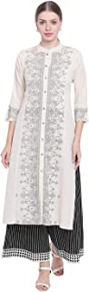 Shopbering Women's Cotton Flex Kurta and Palazzo Set