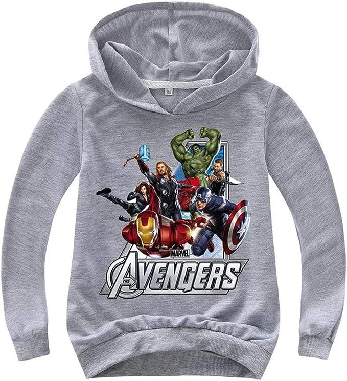 5-6 ans Gris Marvel Comics Avengers Sweat /à capuche pour enfant Motif personnages