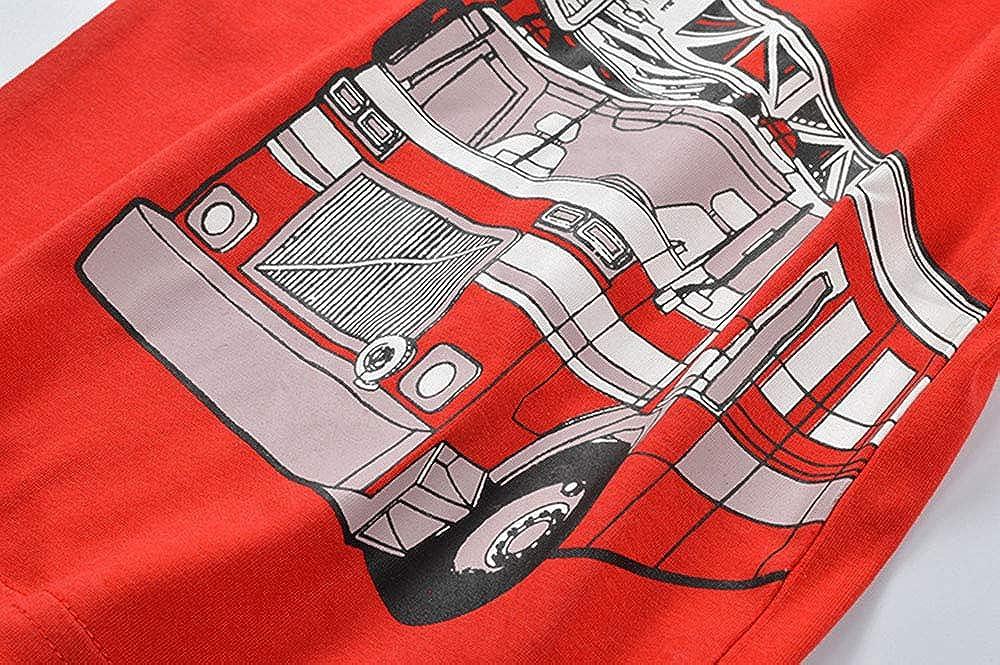 Toddler Boys T-Shirt Short Sleeve Shirt Dinosaur Print Cotton Summer Tops Tees Shark Graphic