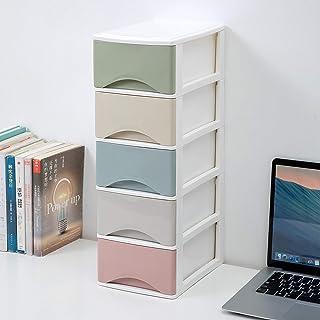 OHELIGO 5 Layer Plastic Multipurpose Drawer Organizer Cabinet