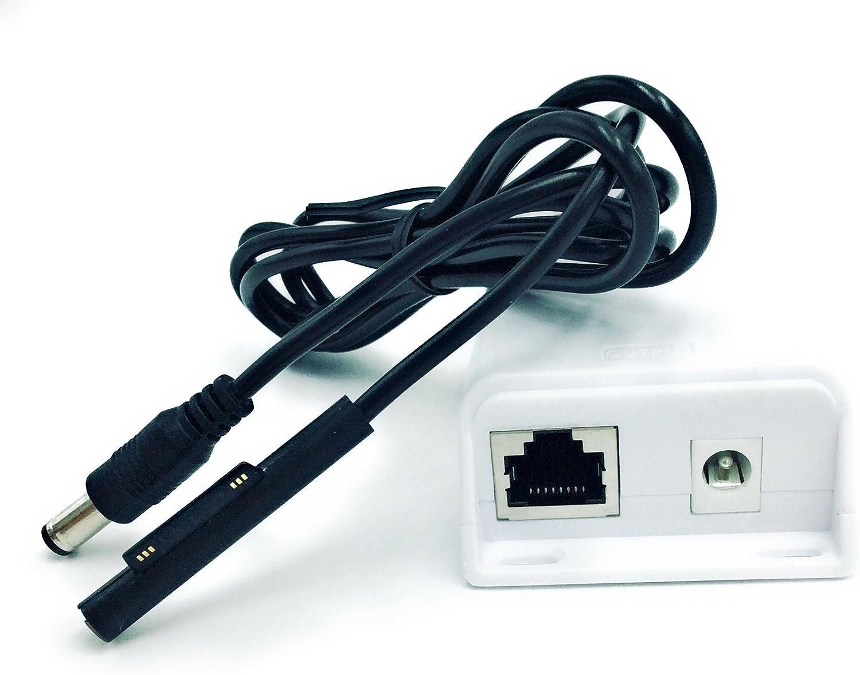 PoE+ Splitter/Converter for Non-PoE Devices | 5v, 12v, 15v or 19v Output with Various Compatibility Options (15 Volt 25 Watt - Microsoft Power)