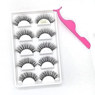 NGEL Lash Luxury 3D Faux Mink Magic Black Premium Volume NGEL Natural Long Fluffy & Natural Looking False Eyelashes 5 Pairs (Princess)