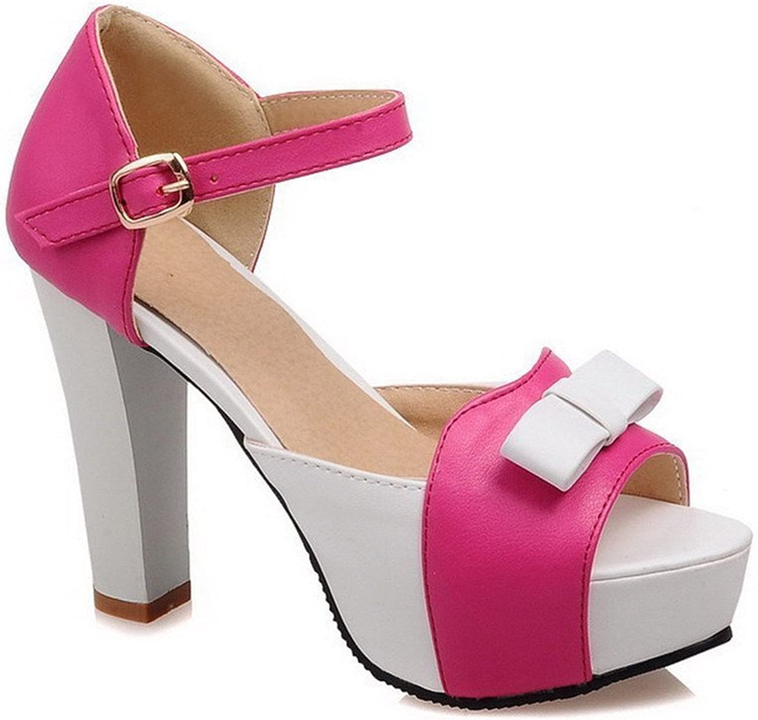 Xiaoyouny Fashionable Women's High Heels Assorted color Buckle Peep Toe Sandals