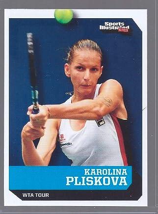 Sports Illustrated Karolina PLISKOVA 2016 1ST Ever Printed Tennis Rookie Card! W/H TOP Loader!