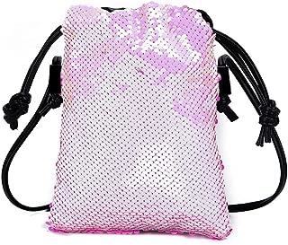 Waymine Women's Wild Messenger Bag Solid Small Bag Hook Bag Shoulder Bag Sequin Coin Phone Bag