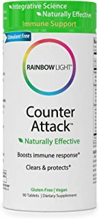 Rainbow Light Counter Attack with Vitamin C and Zinc, Gluten-Free, Vegan, Sugar-Free, 3 Targeted Blends For Overall Immune...