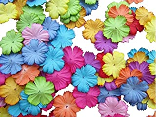 100 pcs Patch Flowers 25x25mm Mulberry Paper Flower scrapbooking wedding doll house supplies card Mini Paper Flowers