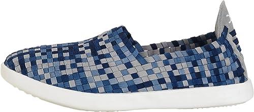 Dude chaussures Wohommes E-last Simple bleu Gradient Slip On