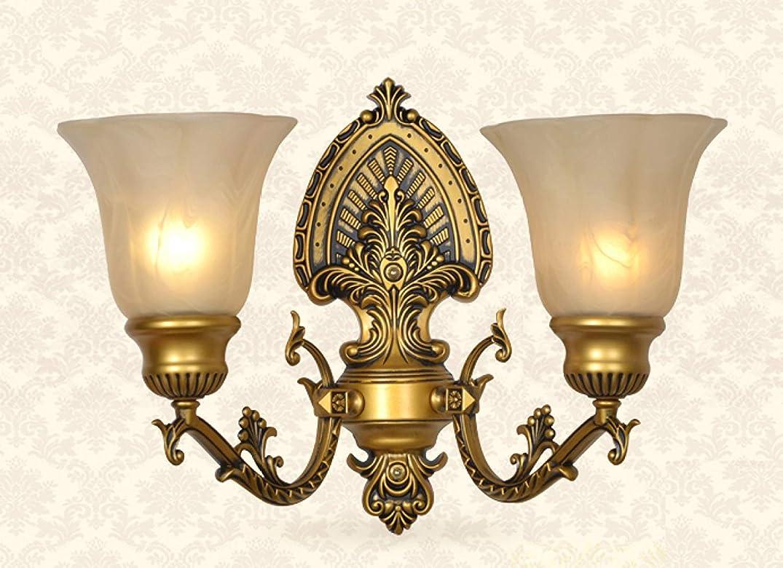 トリップバルク理解BXJ ヨーロッパ亜鉛合金ウォールランプの寝室のベッドサイドランプのリビングルームテレビ壁二重壁ランプ (Color : D)