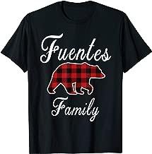 FUENTES Family Bear Red Plaid Christmas Pajama Gift T-Shirt